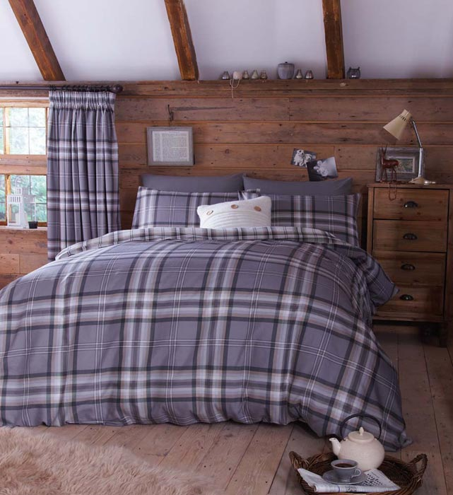 tartan curtains and bedding