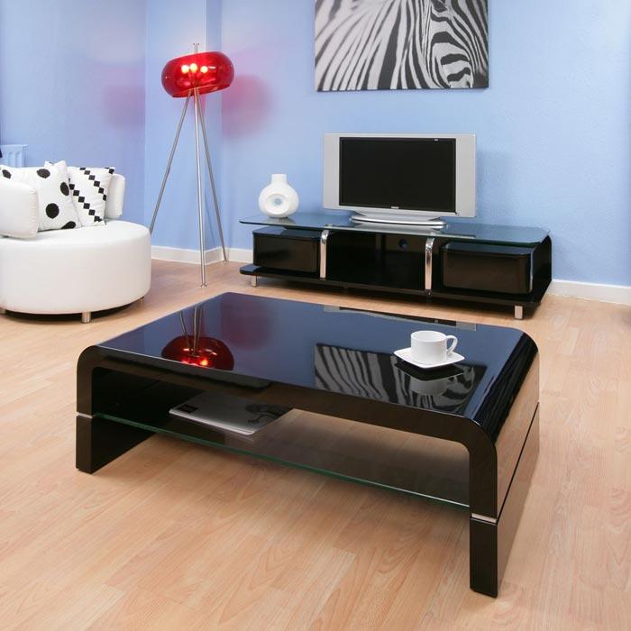 asda black gloss coffee table
