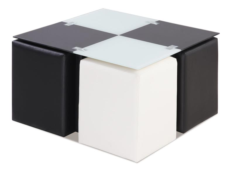 cheap black and white coffee table