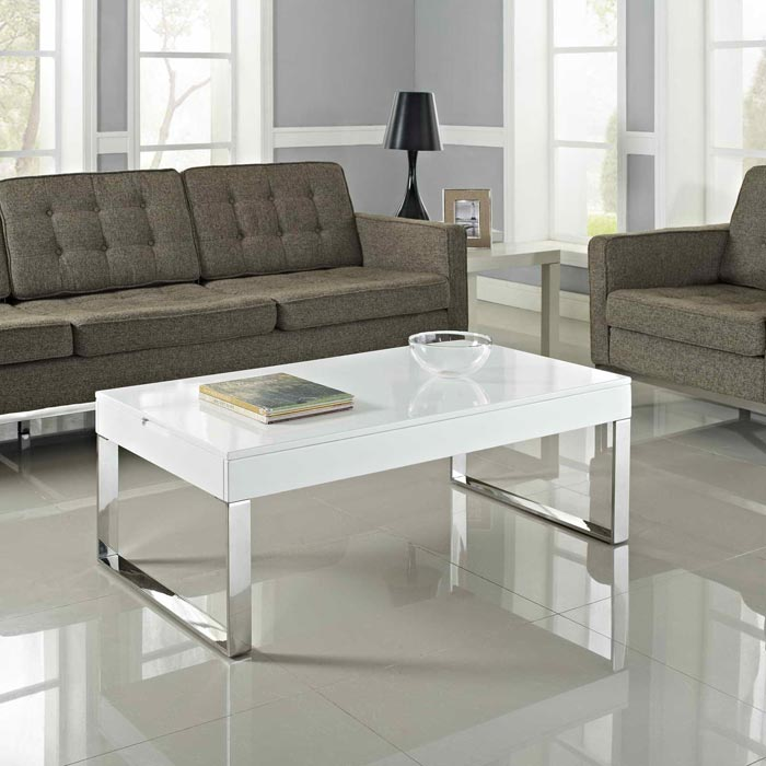 cheap white coffee table set