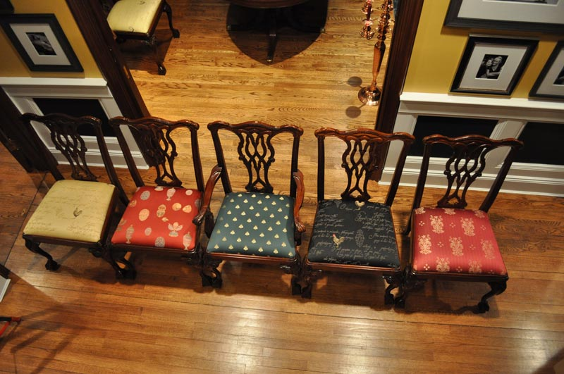 dining chairs different fabrics