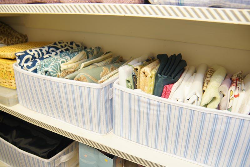 how to make a fabric closet organizer