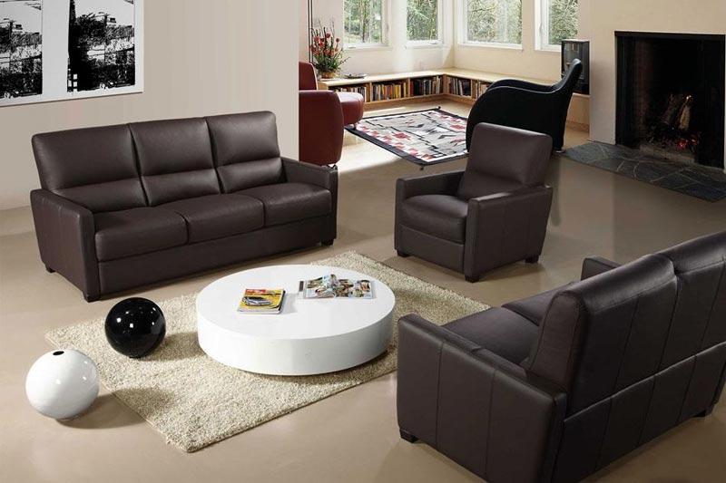 Italian Leather Recliner Sofa Set