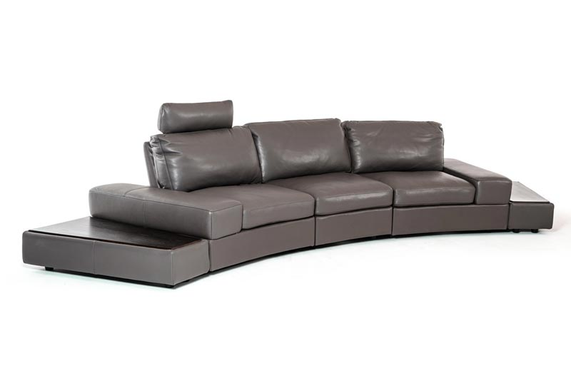 Italian Leather Sectional Sofa Set