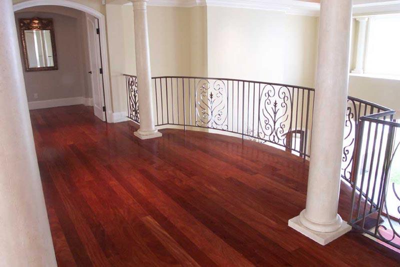 mahogany as flooring