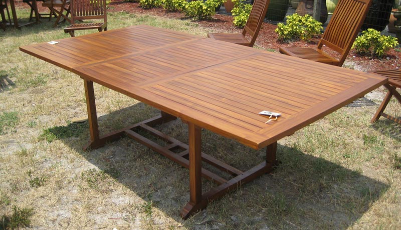 second hand teak outdoor table
