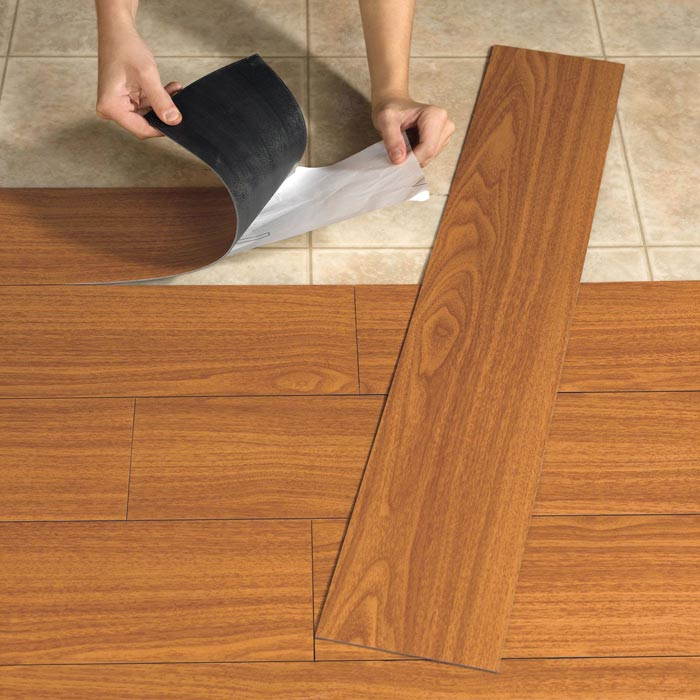 self adhesive wood effect vinyl plank flooring