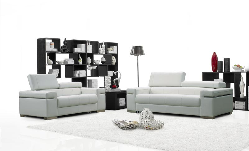 Soho Italian Leather Sofa Set