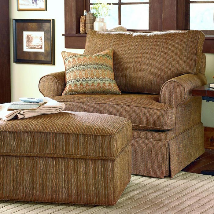 bassett club chair and ottoman