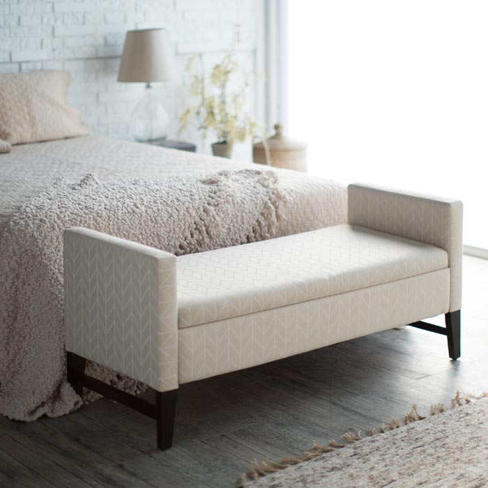 bedroom bench seat with storage