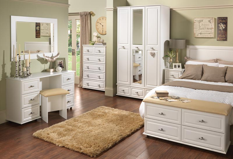 : bedroom set with wardrobe closet