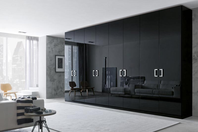 : bedroom wardrobe closet black storage
