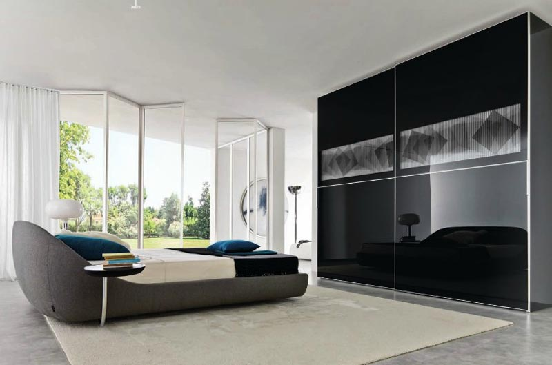 : bedroom wardrobe closet black