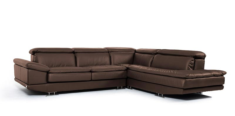 : brown italian leather sofa
