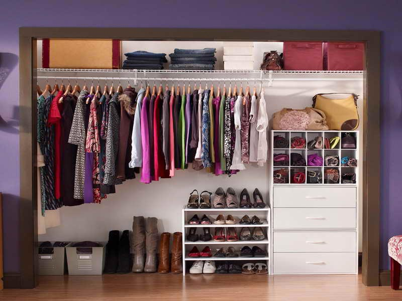 cheap ideas for closet organization
