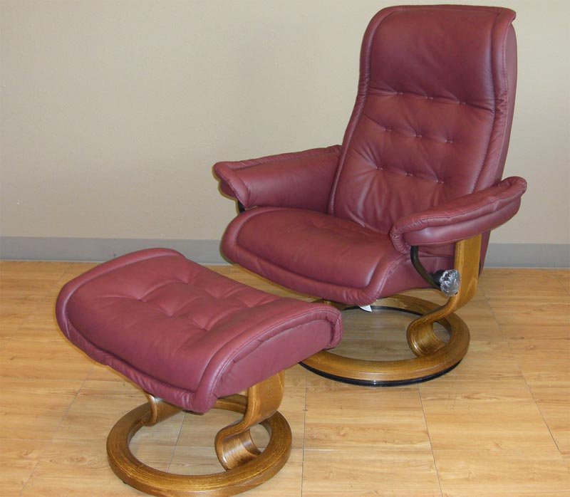 classic club chair and ottoman