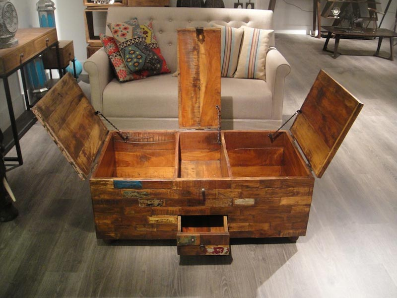coffee table with large storage drawers