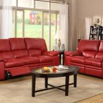 Dark Red Leather Sofa For Extravagant And Chic Living Room Interiors