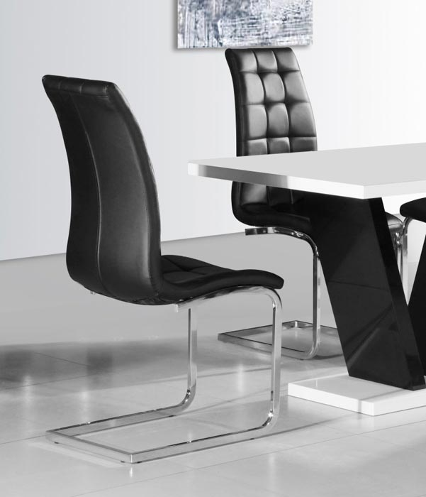 dining chairs black and chrome