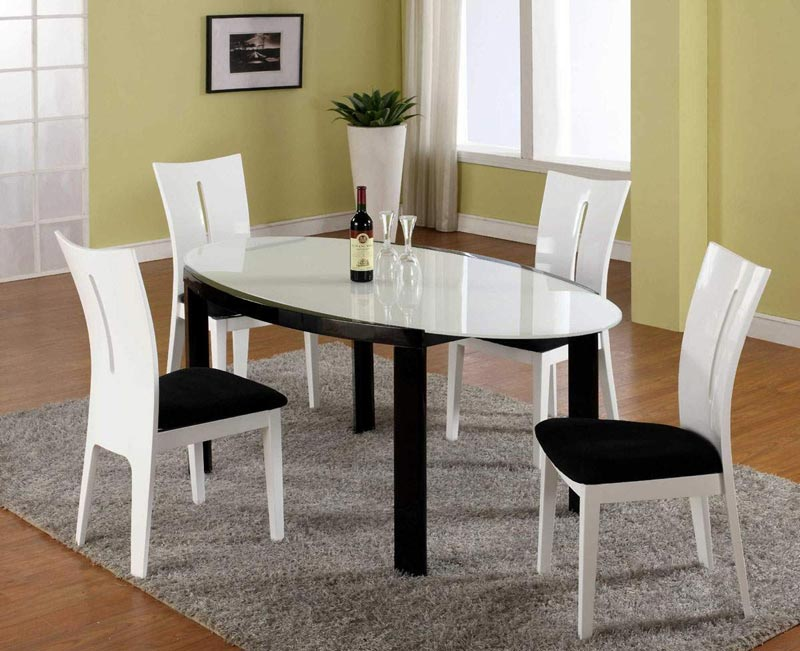 dining chairs black and white