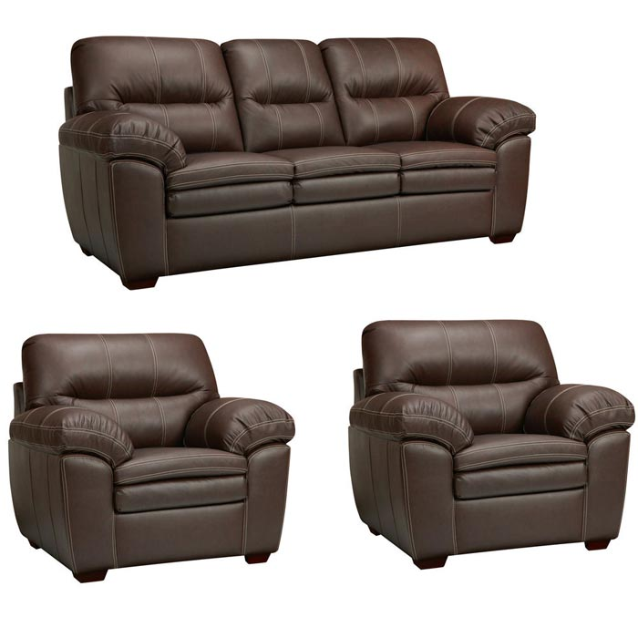 : hawkins java brown italian leather sofa