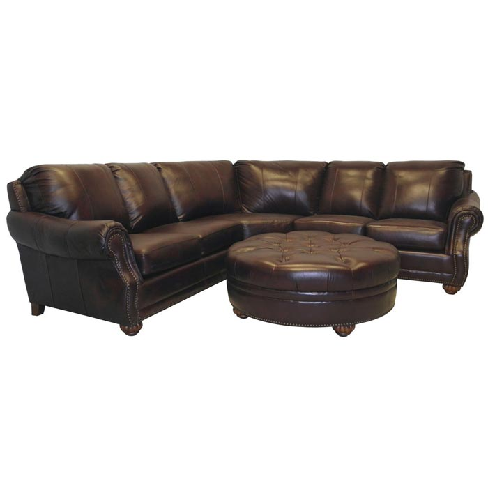 : hudson brown italian leather sofa