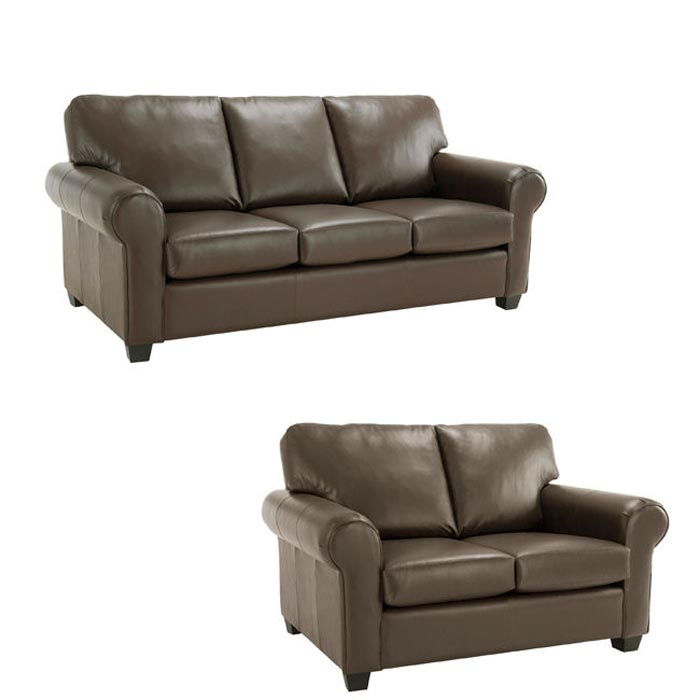 : monroe brown italian leather sofa loveseat set
