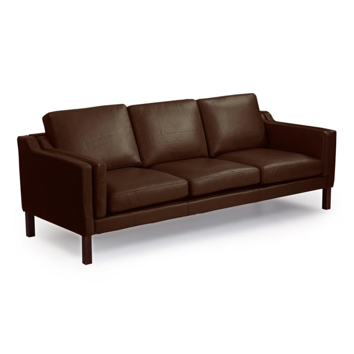 : monroe brown italian leather sofa