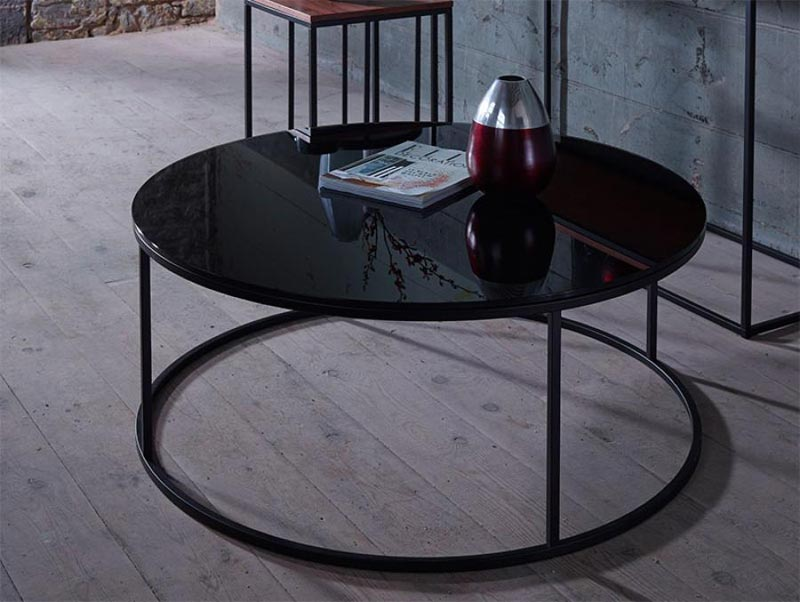 round black coffee table uk