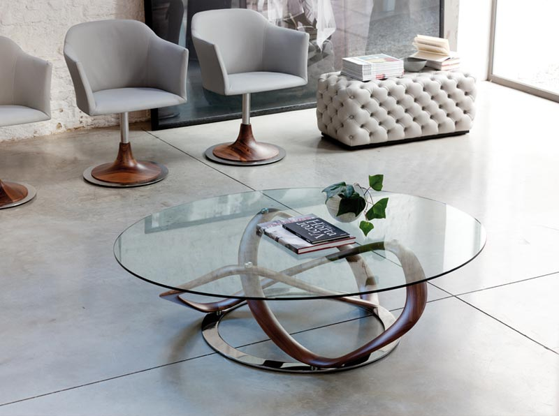 round glass coffee table uk