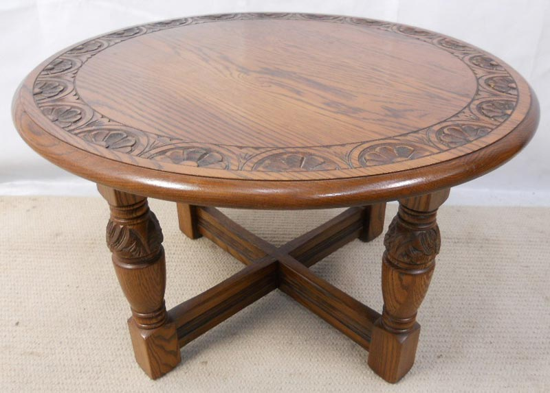 round oak coffee table uk