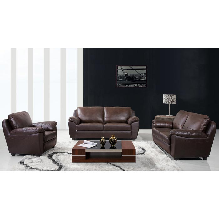 : sedona hand rubbed brown italian leather sofa and two chairs