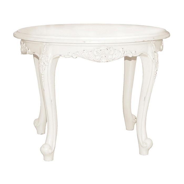 small antique white coffee table