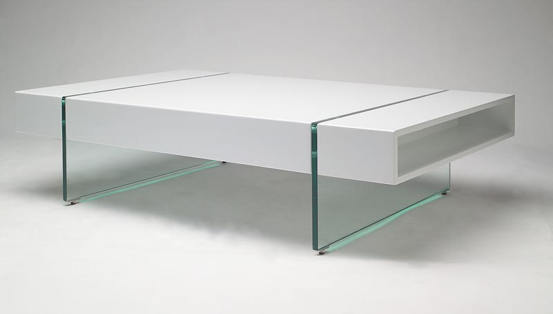 small white gloss coffee table