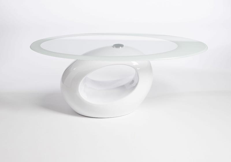 small white high gloss coffee table