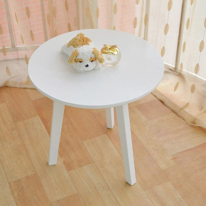small white wood coffee table