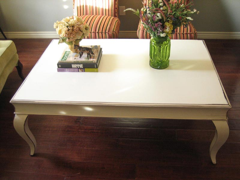 white large coffee table