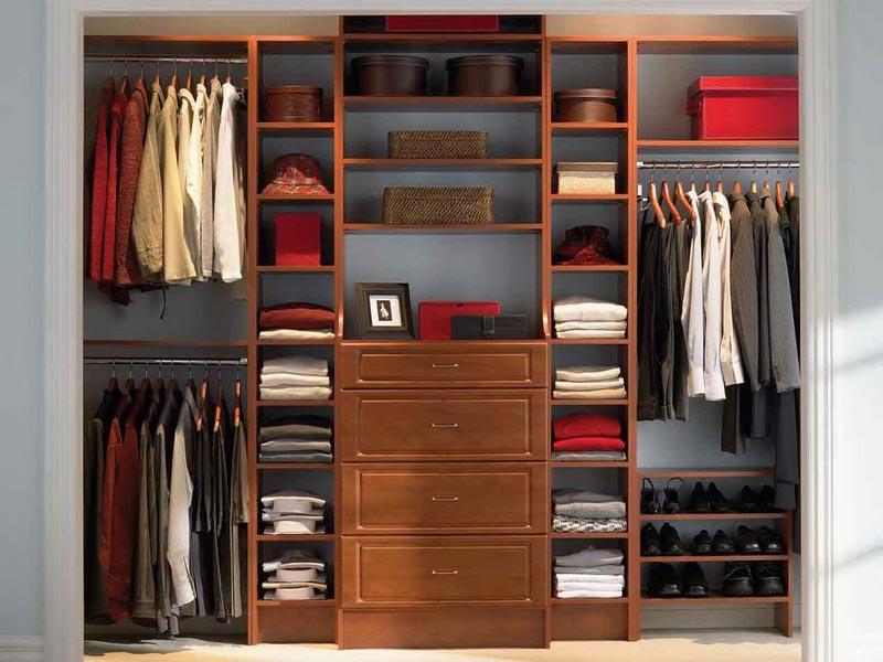 wooden closet organizer systems