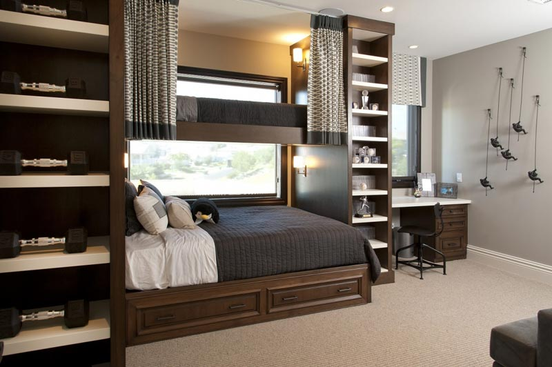 bedroom built in storage designs