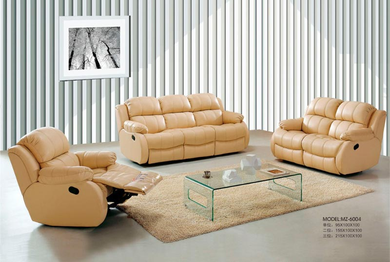 : cheap leather reclining sofa sets