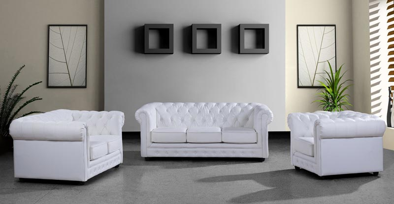 cheap white leather sofa set