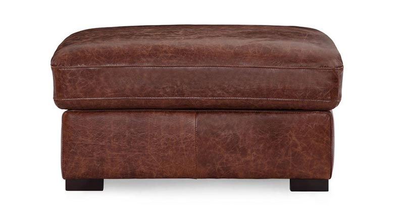 distressed leather ottoman coffee table1