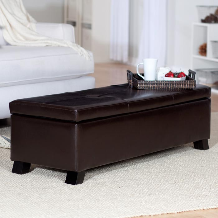 leather storage trunk coffee table