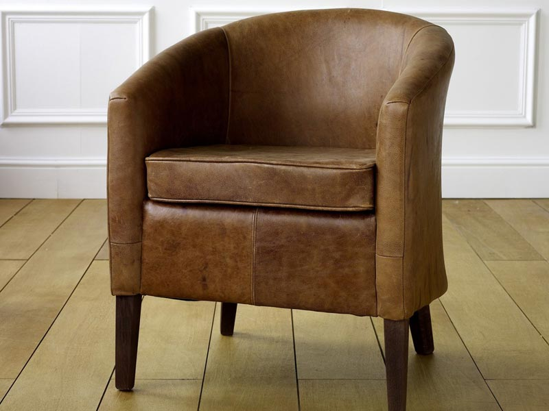 leather tub dining chairs