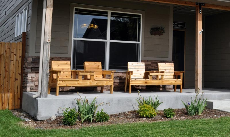outdoor wooden bench kits