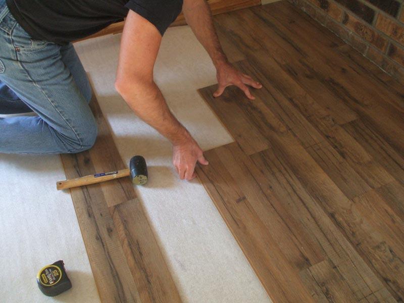 plastic laminate flooring