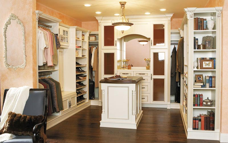 semi custom closet systems