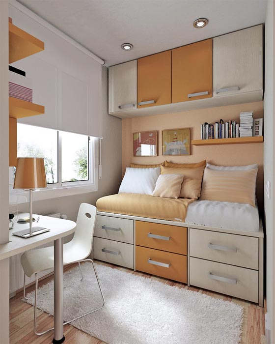 small bedroom storage design tips