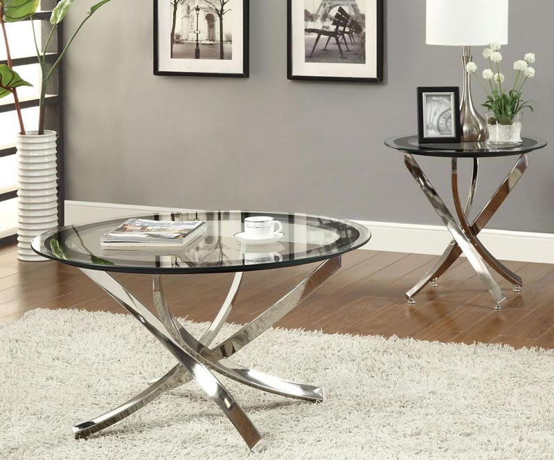 small round glass coffee tables
