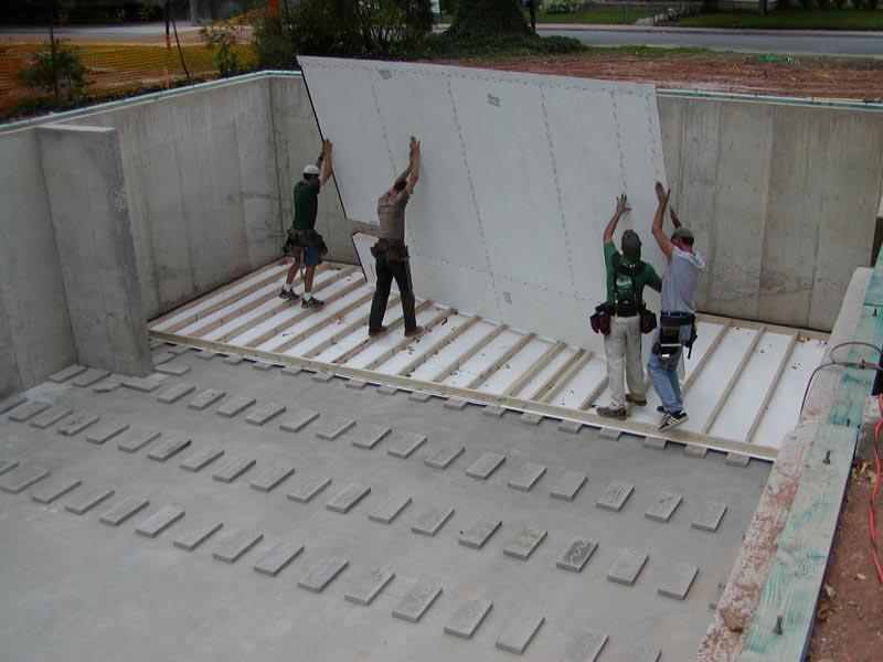 temporary flooring for basement